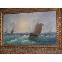 Collianos - Корабли у берега, 19 век.