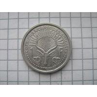 Французский Сомали 1 франк 1965г.km8