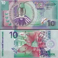 Суринам 10 гульденов 2000 год  UNC