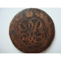 "Монета ""Денга"" 1760 г., Екатерина II, медь."