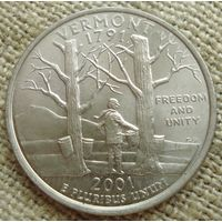 25 центов 2001 США - Вермонт