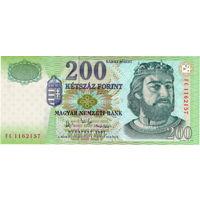 Венгрия, 200 форинтов, 2007 г. UNC