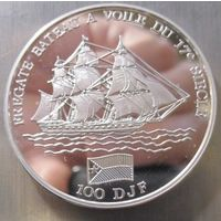 Джибути. 100 франков 1994. Серебро (414)