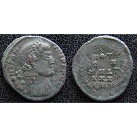 YS: Древний Рим, Константин II, бронзовая монета 337-361 н.э., монетный двор Рима (SMRS?)