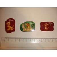 Киндер Магнитики на холодильник 2-х сторонние набор 3 шт из серии Король лев