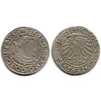 Грош 1534, Жигимонт Старый, Торунь, Вариант портрета с длинными волосами