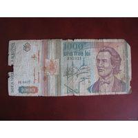 1000 леи 1993, Румыния