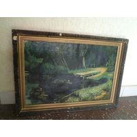 Картина(холст, масло) в раме 68х48 см. Худ. Илькевич, 1955 г.