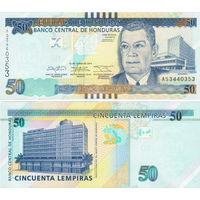 Гондурас  50 лемпир    2014 год  UNC