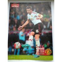"""Постер Майкл Каррик """"Манчестер Юнайтед"""" - Размер 20/27 см."""