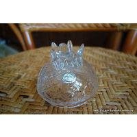 Крышка от конфетницы вазы Ананас Чехия 80-е гг