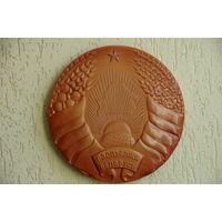Герб Республика Беларусь   39 см  ( керамика )