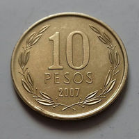 10 песо, Чили 2007 г.