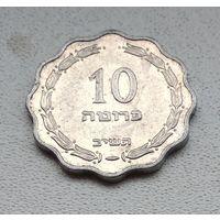 Израиль 10 прут, 1952 7-2-2