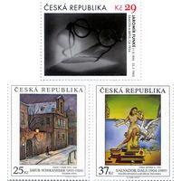 Произведения живописи на почтовых марках. Сальвадор Дали. Яромир Функе. Якуб Шиканедер Чехия 2014 **