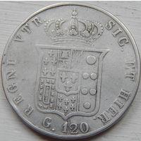 100. Сицилия 120 гран 1857 год*