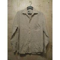 Мужская льняная рубашка на 46 р. Замеры: ПОгруди 60 см,длина 73 см, длина рукава 58 см. Рост 170-176 см. Отличное состояние.