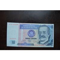 Перу 10 инти образца 1987 года AUNC p129