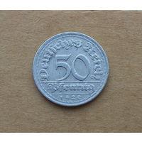 Германия, 50 пфеннигов 1920 г., D