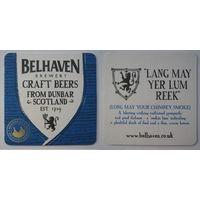 """Подставка под пиво """"Belhaven"""" ."""