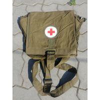 Сумка санитара, общевойсковая медицинская военная, армейская СССР, красный крест, аптечка медика