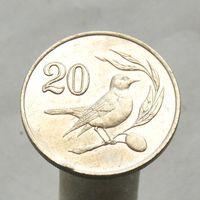 Кипр 20 центов 1985