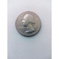 Квотер (1/4 доллара, 25 центов) США 1974 год D