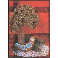 Открытка 1984 Таллин. Пикк Т. Новогодняя открытка. 10 х 15 Подписана