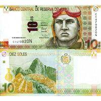 Перу 10 солей образца 2016 года UNC p192