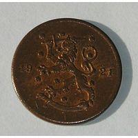 Финляндия 1 Пенни 1921 (108)