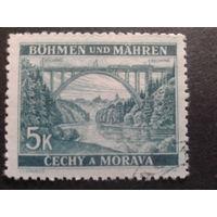 Рейх протекторат 1940 железнодорожный мост, поезд