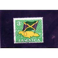 Ямайка. Ми-310 . Карта и флаг Ямайки.