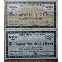 100000 марок 1923г. Бохум
