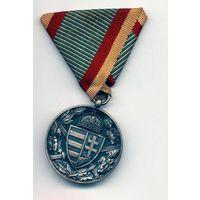 МЕДАЛЬ ВЕТЕРАНА WW1 для комбатантов (с пересеченными мечами под гербом Венгрии)