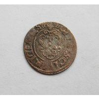 Шиллинг 1630г.Рига Густав Адольф Прибалтийские владения Швеции не частый год.