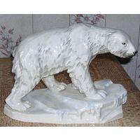 Статуэтка Белый МЕДВЕДЬ на льдине Германия середина 20 века