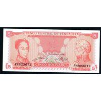 Венесуэла 5 боливаров 1989г V 8823672 UNC