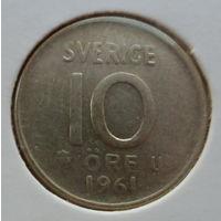 """Швеция 10 эре 1961 """"Корона"""""""