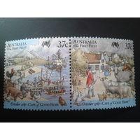 Австралия 1987 колонизация Австралии корабли, домашние животные сцепка