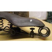 Седло сиденье велосипедное старинное восстановленное оригинал 1930е