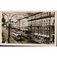 "Открытка 1957г. ""Курск. Улица Ленина"". Тираж 2т."