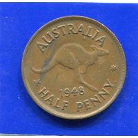 Австралия 1/2 пенни 1948, Georg VI