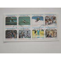 Олимпиада в Лос-Анджелесе 1984 (Швеция) сцепка из 8 марок