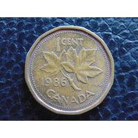 Канада 1986 г. 1 цент. Елизавета II.