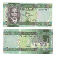 Банкнота Южный Судан 1 фунт не датирована (2011) UNC ПРЕСС