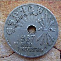 Испания (республика). 25 сантимов 1937 г.