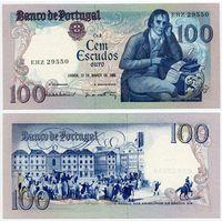 Португалия. 100 эскудо (образца 1985.03.12 года, P178d, подпись 3, UNC)