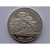Маршалловы острова 5 долларов 1991