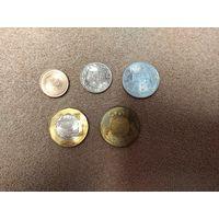 Тайвань набор 5 монет