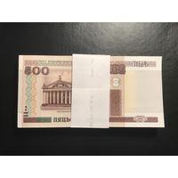 Корешок (100 шт) 500 рублей Беларусь 2000 год серия Бб